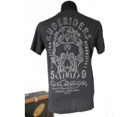 Rude Riders CUSTOM MOTOR T-Shirt, schwarz